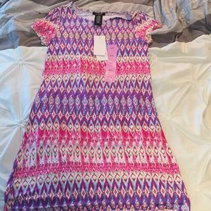 Never worn pink & purple Aztec patterned dress